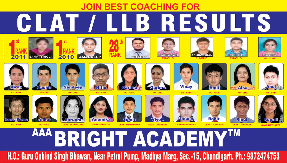 LLB CLAT coaching Academy chandigarh