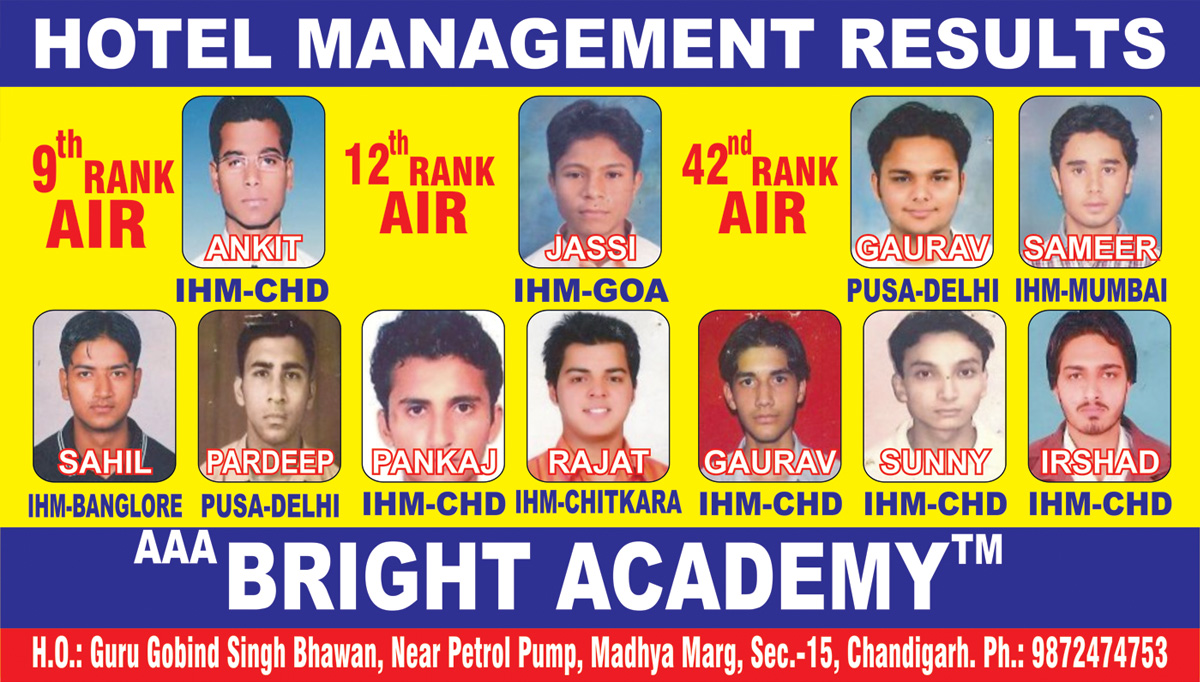 Hotel Management coaching Academy chandigarh
