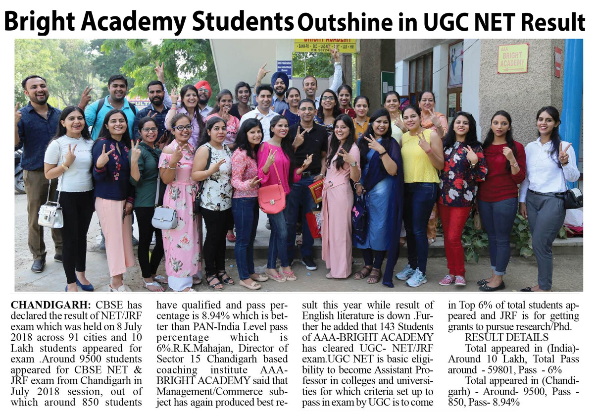 UGC NET coaching Academy chandigarh